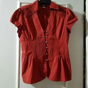 Dots red blouse